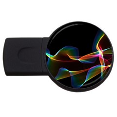 Fluted Cosmic Rafluted Cosmic Rainbow, Abstract Winds 2gb Usb Flash Drive (round) by DianeClancy