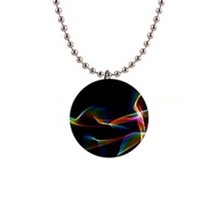 Fluted Cosmic Rafluted Cosmic Rainbow, Abstract Winds Button Necklace by DianeClancy