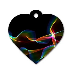Fluted Cosmic Rafluted Cosmic Rainbow, Abstract Winds Dog Tag Heart (two Sided) by DianeClancy