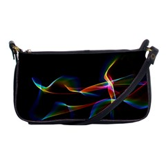 Fluted Cosmic Rafluted Cosmic Rainbow, Abstract Winds Evening Bag by DianeClancy