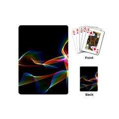 Fluted Cosmic Rafluted Cosmic Rainbow, Abstract Winds Playing Cards (mini) by DianeClancy