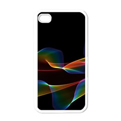 Fluted Cosmic Rafluted Cosmic Rainbow, Abstract Winds Apple Iphone 4 Case (white) by DianeClancy