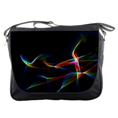 Fluted Cosmic Rafluted Cosmic Rainbow, Abstract Winds Messenger Bag by DianeClancy