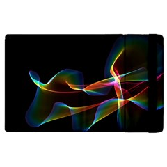 Fluted Cosmic Rafluted Cosmic Rainbow, Abstract Winds Apple Ipad 2 Flip Case by DianeClancy