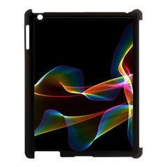 Fluted Cosmic Rafluted Cosmic Rainbow, Abstract Winds Apple Ipad 3/4 Case (black) by DianeClancy