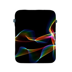 Fluted Cosmic Rafluted Cosmic Rainbow, Abstract Winds Apple Ipad Protective Sleeve by DianeClancy