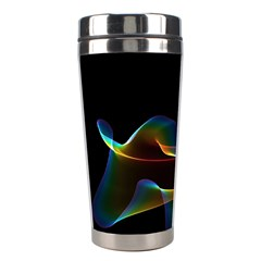 Fluted Cosmic Rafluted Cosmic Rainbow, Abstract Winds Stainless Steel Travel Tumbler by DianeClancy