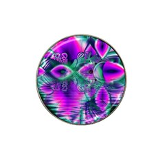 Teal Violet Crystal Palace, Abstract Cosmic Heart Golf Ball Marker 4 Pack (for Hat Clip) by DianeClancy