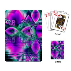 Teal Violet Crystal Palace, Abstract Cosmic Heart Playing Cards Single Design by DianeClancy
