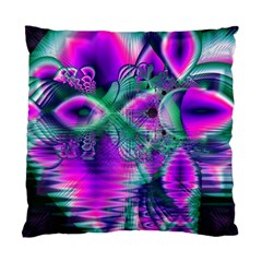Teal Violet Crystal Palace, Abstract Cosmic Heart Cushion Case (single Sided)  by DianeClancy