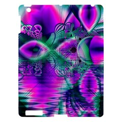 Teal Violet Crystal Palace, Abstract Cosmic Heart Apple Ipad 3/4 Hardshell Case by DianeClancy