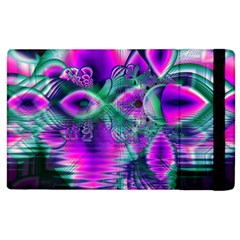 Teal Violet Crystal Palace, Abstract Cosmic Heart Apple Ipad 2 Flip Case by DianeClancy
