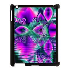 Teal Violet Crystal Palace, Abstract Cosmic Heart Apple Ipad 3/4 Case (black) by DianeClancy
