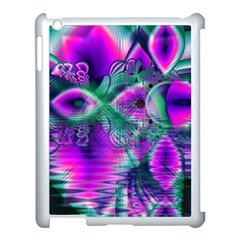 Teal Violet Crystal Palace, Abstract Cosmic Heart Apple Ipad 3/4 Case (white) by DianeClancy