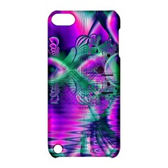 Teal Violet Crystal Palace, Abstract Cosmic Heart Apple Ipod Touch 5 Hardshell Case With Stand by DianeClancy