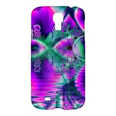 Teal Violet Crystal Palace, Abstract Cosmic Heart Samsung Galaxy S4 I9500/i9505 Hardshell Case by DianeClancy