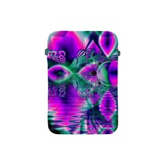 Teal Violet Crystal Palace, Abstract Cosmic Heart Apple Ipad Mini Protective Sleeve by DianeClancy