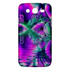 Teal Violet Crystal Palace, Abstract Cosmic Heart Samsung Galaxy Mega 5 8 I9152 Hardshell Case  by DianeClancy