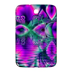 Teal Violet Crystal Palace, Abstract Cosmic Heart Samsung Galaxy Note 8.0 N5100 Hardshell Case  by DianeClancy
