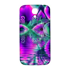 Teal Violet Crystal Palace, Abstract Cosmic Heart Samsung Galaxy S4 I9500/i9505  Hardshell Back Case by DianeClancy