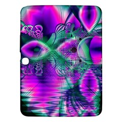 Teal Violet Crystal Palace, Abstract Cosmic Heart Samsung Galaxy Tab 3 (10 1 ) P5200 Hardshell Case  by DianeClancy