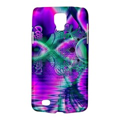 Teal Violet Crystal Palace, Abstract Cosmic Heart Samsung Galaxy S4 Active (i9295) Hardshell Case by DianeClancy