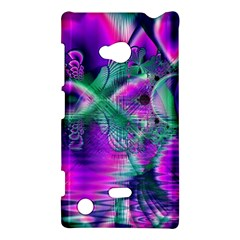 Teal Violet Crystal Palace, Abstract Cosmic Heart Nokia Lumia 720 Hardshell Case by DianeClancy