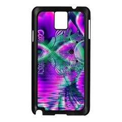Teal Violet Crystal Palace, Abstract Cosmic Heart Samsung Galaxy Note 3 N9005 Case (black) by DianeClancy