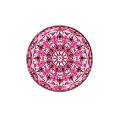 Twirling Pink, Abstract Candy Lace Jewels Mandala  Golf Ball Marker (for Hat Clip) by DianeClancy