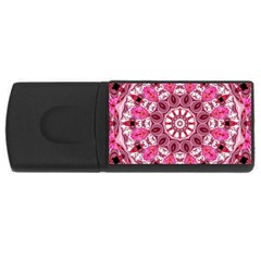 Twirling Pink, Abstract Candy Lace Jewels Mandala  4gb Usb Flash Drive (rectangle)
