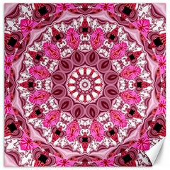 Twirling Pink, Abstract Candy Lace Jewels Mandala  Canvas 20  X 20  (unframed)