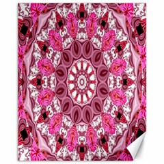 Twirling Pink, Abstract Candy Lace Jewels Mandala  Canvas 11  X 14  (unframed) by DianeClancy