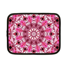 Twirling Pink, Abstract Candy Lace Jewels Mandala  Netbook Sleeve (small) by DianeClancy