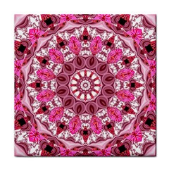 Twirling Pink, Abstract Candy Lace Jewels Mandala  Face Towel
