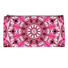 Twirling Pink, Abstract Candy Lace Jewels Mandala  Pencil Case by DianeClancy