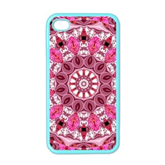 Twirling Pink, Abstract Candy Lace Jewels Mandala  Apple Iphone 4 Case (color) by DianeClancy