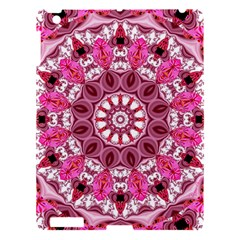 Twirling Pink, Abstract Candy Lace Jewels Mandala  Apple Ipad 3/4 Hardshell Case by DianeClancy
