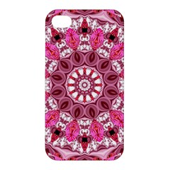 Twirling Pink, Abstract Candy Lace Jewels Mandala  Apple Iphone 4/4s Premium Hardshell Case by DianeClancy
