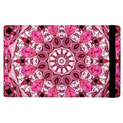 Twirling Pink, Abstract Candy Lace Jewels Mandala  Apple Ipad 3/4 Flip Case by DianeClancy