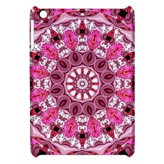 Twirling Pink, Abstract Candy Lace Jewels Mandala  Apple Ipad Mini Hardshell Case by DianeClancy