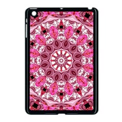 Twirling Pink, Abstract Candy Lace Jewels Mandala  Apple Ipad Mini Case (black) by DianeClancy