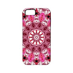 Twirling Pink, Abstract Candy Lace Jewels Mandala  Apple Iphone 5 Classic Hardshell Case (pc+silicone) by DianeClancy