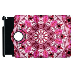 Twirling Pink, Abstract Candy Lace Jewels Mandala  Apple Ipad 3/4 Flip 360 Case by DianeClancy