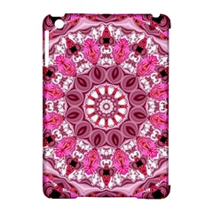 Twirling Pink, Abstract Candy Lace Jewels Mandala  Apple Ipad Mini Hardshell Case (compatible With Smart Cover) by DianeClancy