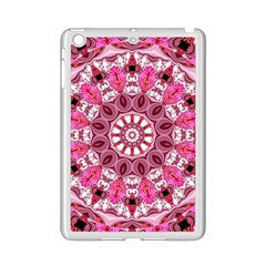 Twirling Pink, Abstract Candy Lace Jewels Mandala  Apple Ipad Mini 2 Case (white) by DianeClancy