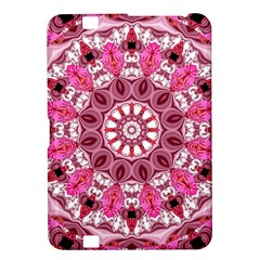 Twirling Pink, Abstract Candy Lace Jewels Mandala  Kindle Fire Hd 8 9  Hardshell Case by DianeClancy