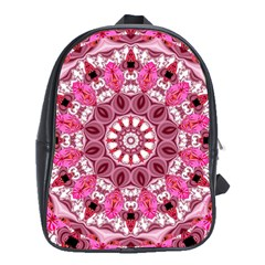 Twirling Pink, Abstract Candy Lace Jewels Mandala  School Bag (xl) by DianeClancy