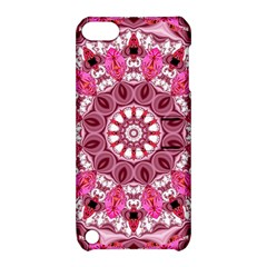 Twirling Pink, Abstract Candy Lace Jewels Mandala  Apple Ipod Touch 5 Hardshell Case With Stand by DianeClancy