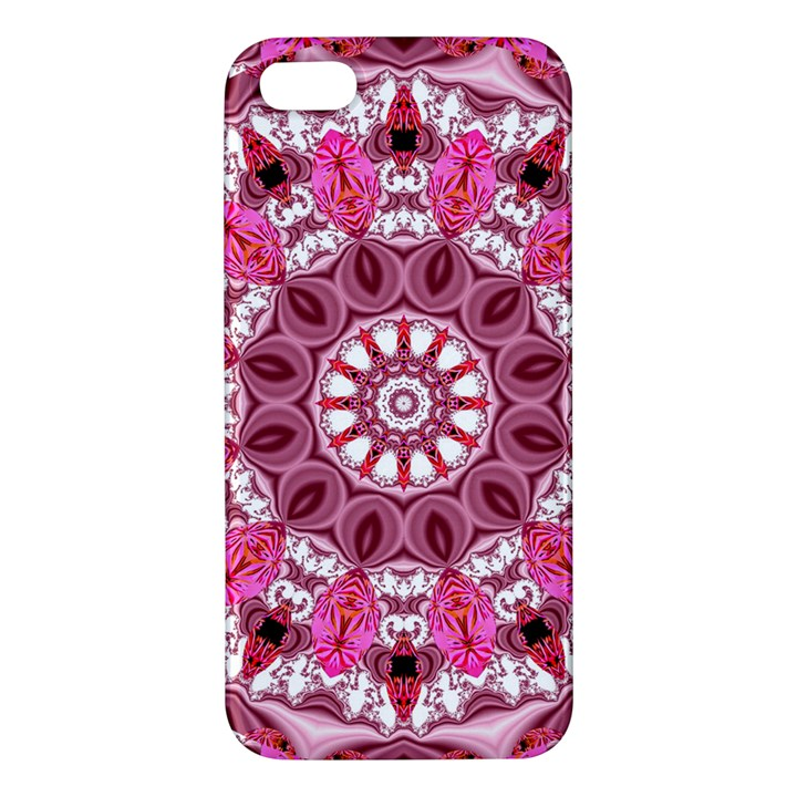 Twirling Pink, Abstract Candy Lace Jewels Mandala  Apple iPhone 5 Premium Hardshell Case
