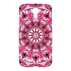 Twirling Pink, Abstract Candy Lace Jewels Mandala  Samsung Galaxy S4 I9500/i9505 Hardshell Case by DianeClancy